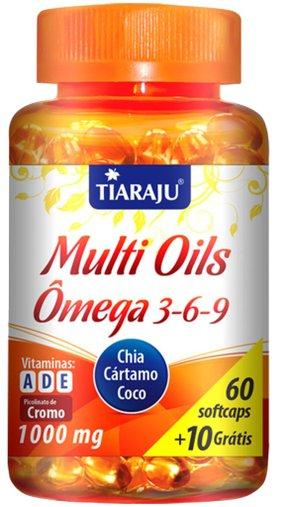 Multi Oils (1000 mg) - 60 Cáps. Softgel + 10 Cáps. Grátis - Tiaraju