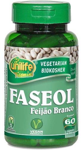 Faseol Feijão Branco  60 Cápsulas 500mg - Unilife