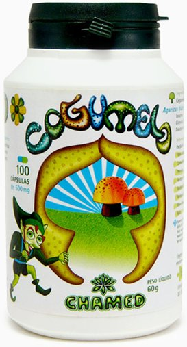Cogumello 100 caps 500mg - Chamed