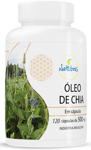 óleo de Chia Nattubras 500mg 120 Cápsulas