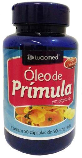 Óleo de Prímula 500mg Luciomed 50 Cápsulas