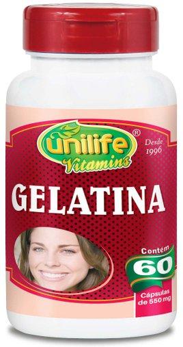 Gelatina 60 Cápsulas 550mg - Unilife