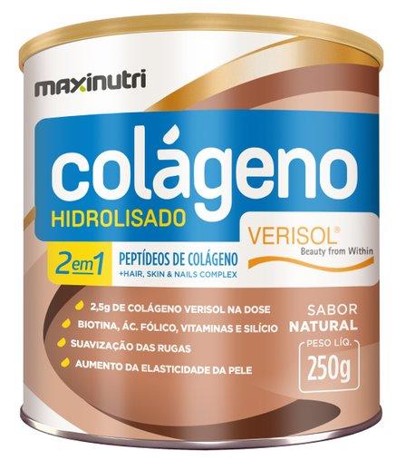 Colágeno Hidrolisado Maxinutri 2 em 1 Verisol 250gr-sabor natural