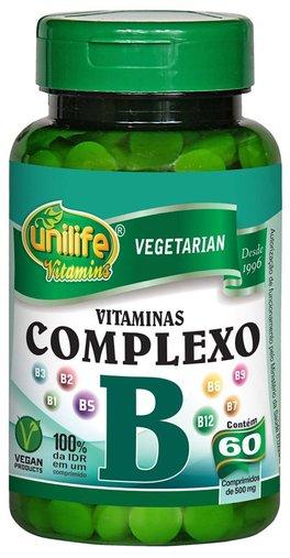 Complexo B 60 Cápsulas 500mg -  Unilife
