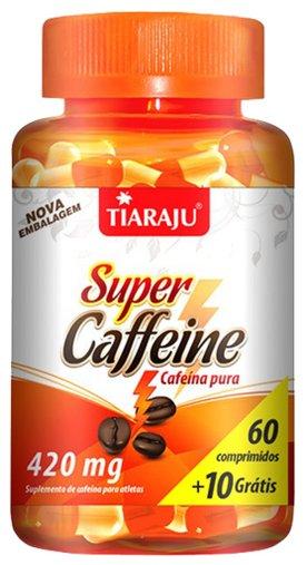 Super Caffeine (420 mg) - 60 Comprimidos + 10 Comp. Grátis