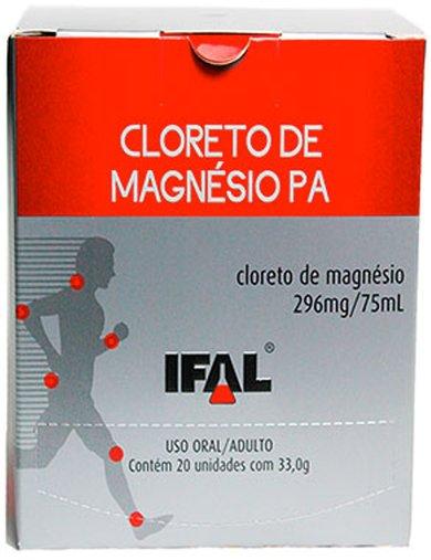 Cloreto de Magnésio PA Caixa com 20 saches 33,0g - Ifal