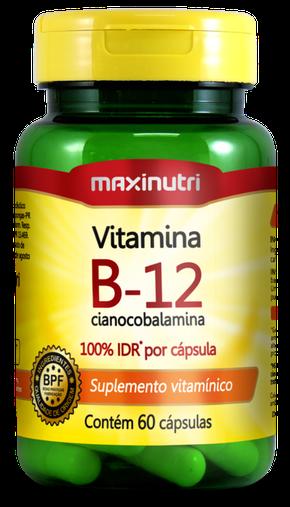 Vitamina B12 Cianocobalamina 100% IDR 60 cápsulas Maxinutri