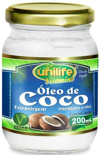 Óleo de Coco Extra Virgem 200ml - Unilife