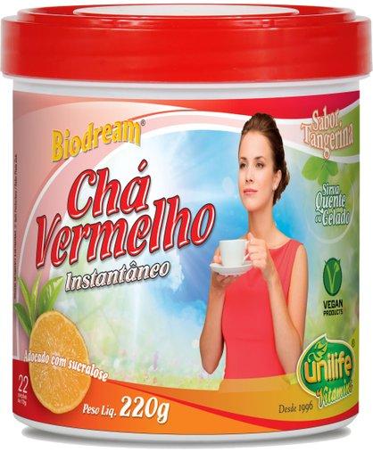 Chá Vermelho Solúvel Instantâneo Sabor de Tangerina Biodream Unilife 220g