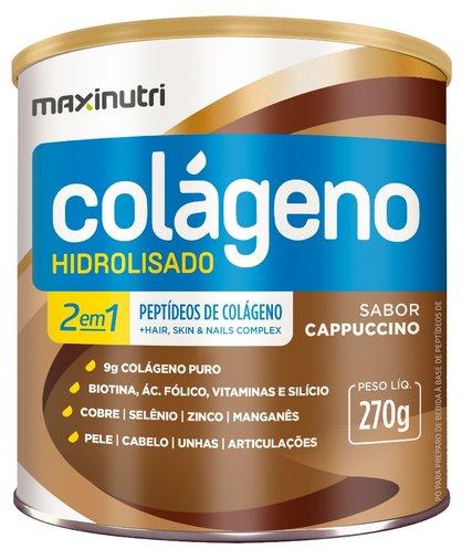 Colageno Hidrolisado 2 em 1 Maxinutri 250gr Sabor Cappuccino
