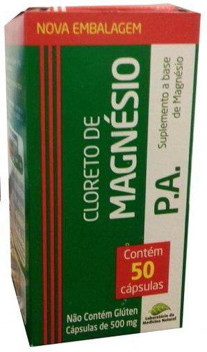 Cloreto de magnésio 50 caps 500 mg - Medinal