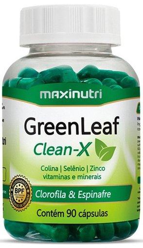 GreenLeaf Clean-X 603 mg 90 Cápsulas - Maxinutri