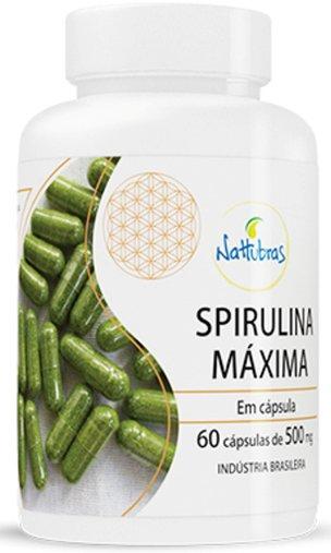 Spirulina Máxima Nattubras 500mg 60 Cápsulas