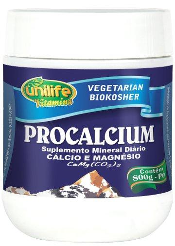 Procalcium Cálcio e Magnésio 800g - Unilife