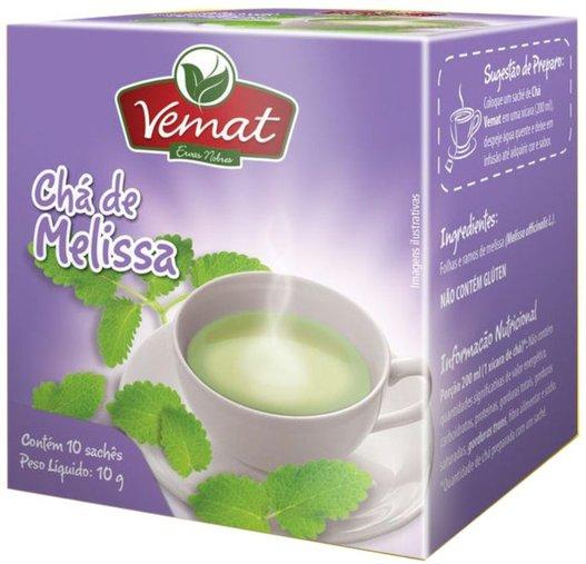 Chá de Melissa com 10 sachês 10g - Vemat