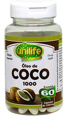 Óleo de Coco 60 Cápsulas 1200mg Unilife