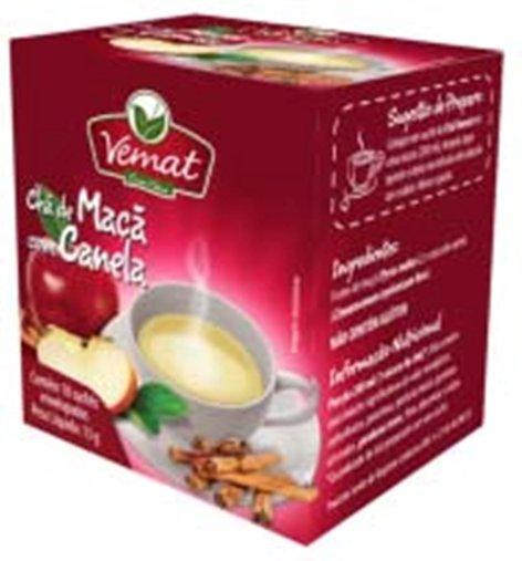 Chá De Maçã Com Canela  com 10 Sachês 13g - Vemat