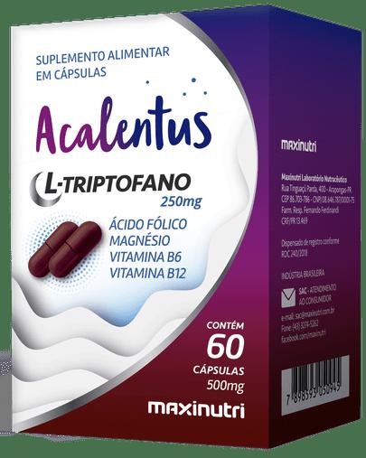 Acalentus L-Triptofano 250mg + Associações) 60 cápsulas Maxinutri