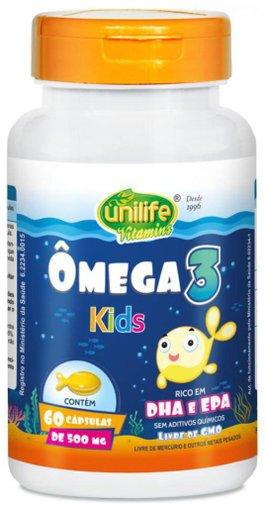 Ômega 3 Kids 60 Cápsulas 500mg - Unilife