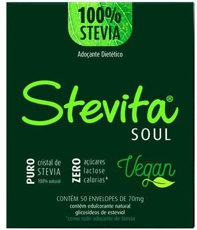 Adoçante Stevia sachê 50 und 7mg Stevita - SteviaSoul Vegan