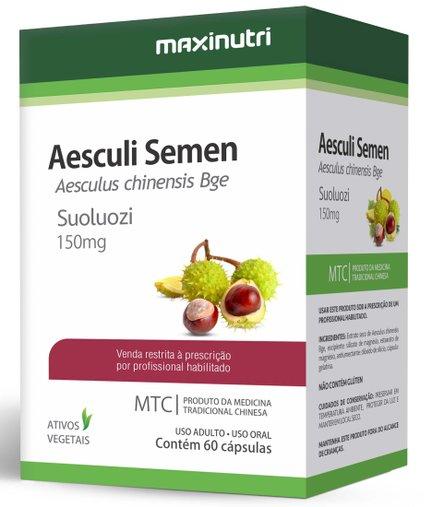 Aesculi Semen Castanha da Índia  MTC 60 cápsulas 150mg Maxinutri