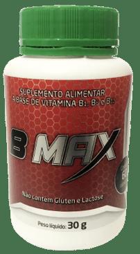B Max Suplemento alimentar a base de Vitaminas B1 B6 B12 60 cápsulas 50mg Medinal