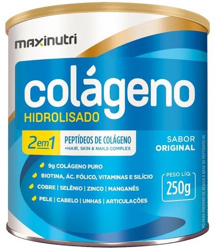 Colágeno Hidrolisado 2 em 1 Maxinutri 300gr 30 Saches Original