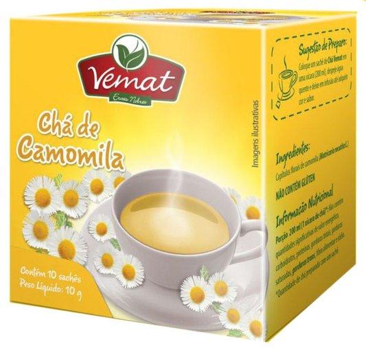 Chá de Camomila com10 Sachês 10g- Vemat