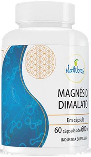 Magnésio Dimalato 60 cápsulas 600mg - Nattubras