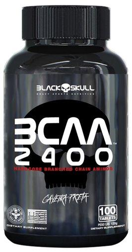 BCAA 2400 Aminoácidos 100 Tabletes BlackSkull