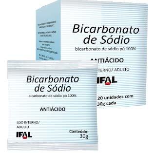 Bicarbonato de Sódio Caixa com 20 sachês 30g - Ifal