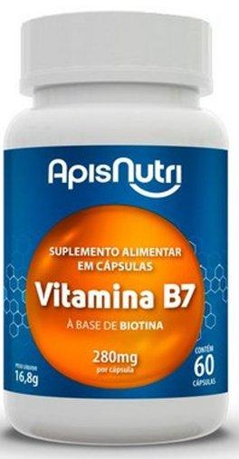 Biotina Vitamina B7 280 mg 60 cps Apisnutri