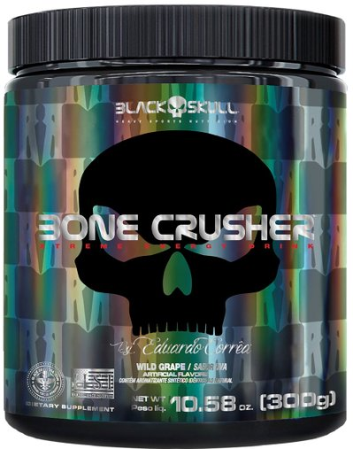Pré Treino Bone Cruscher 300g OZ Wild Grape - Uva-  BlackSkull