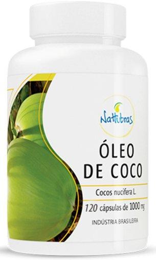 Óleo de Coco Nattubras 1000mg 120 Cápsulas