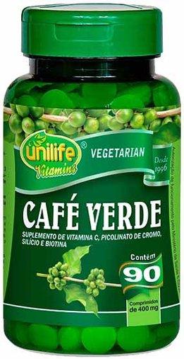 Café Verde 90 Comprimidos 400mg - Unilife