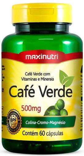 Café Verde com vitaminas e minerais 500mg 60 cápsulas maxinutri
