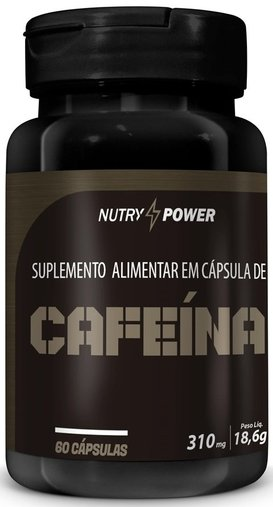 Cafeína Thermogenic Super 310 mg 60 cápsulas Nutry Power