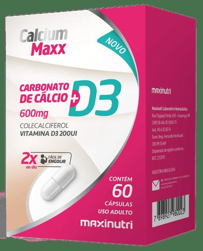 Calcium Max D3 Maxinutri 600mg 60 Cápsulas