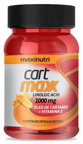 Cart Max Óleo de Cártamo + Vitamina E 1000mg 60 Cápsulas - Maxinutri