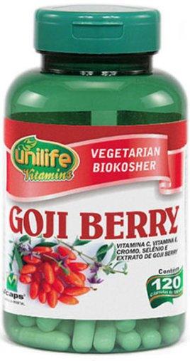Goji Berry 120 Cápsulas 500mg - Unilife