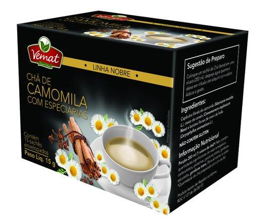 Chá de Camomila com Especiarias 15 sachês 15g Vemat
