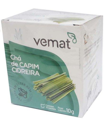 Chá de Capim Cidreira 10 sachês 10g Vemat
