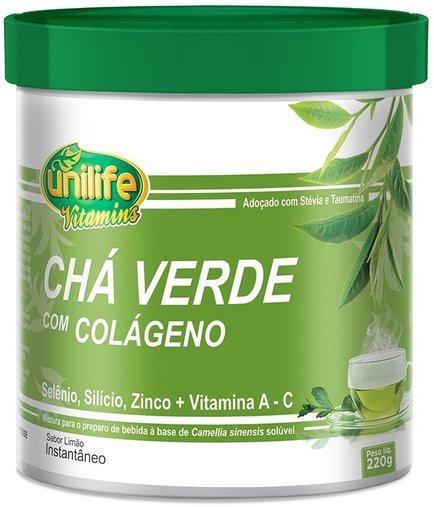 Chá Verde com Colágeno e Stévia Solúvel Unilife 220g