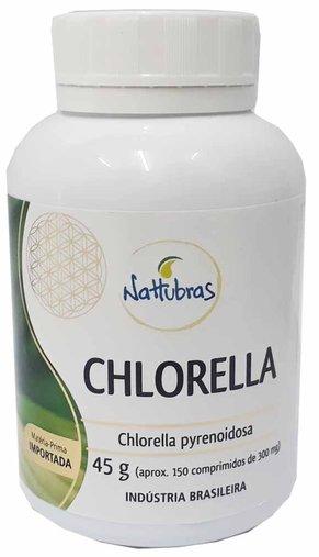 Clorela Chlorella Nattubras 300mg 150 Comprimidos