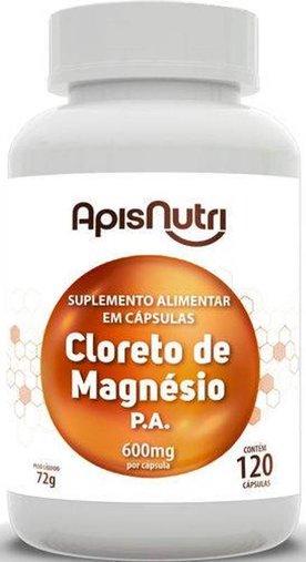 Cloreto de Magnésio P.A. 600mg 120 cápsulas Apisnutri