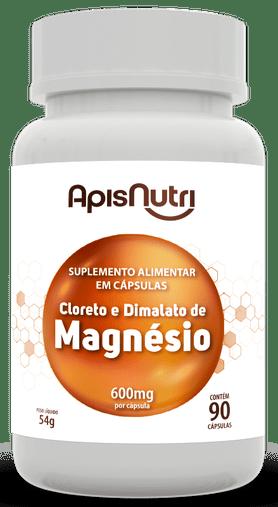 Cloreto e Dimalato de Magnésio 600 mg 90 cápsulas Apisnutri