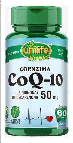 Coenzima Q10 50mg 60 cápsulas Unilife