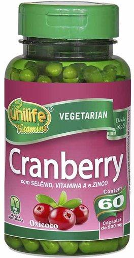 Cranberry 60 Cápsulas 500mg - Unilife
