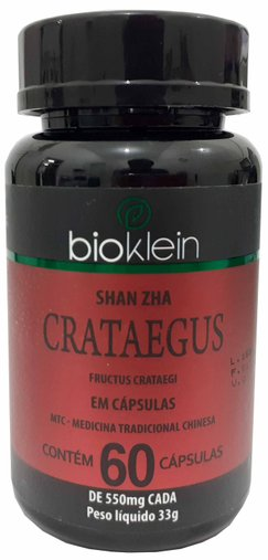 Crataegus 60 cápsulas 550 mg BioKlein MTC SHAN ZHA