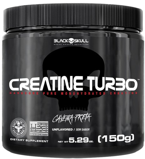 Creatine Turbo Caveira Preta Black Skull 150g BlackSkull